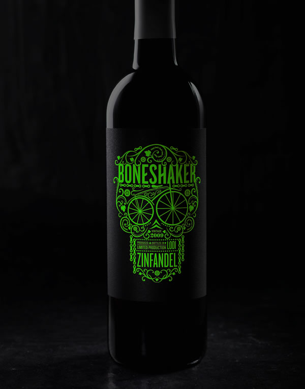 Boneshaker-Glow-in-the-Dark-Label-Wine-Label-and-Package-Design
